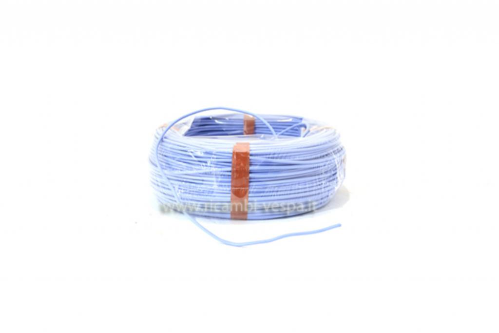 Blue silicone-rubber coated electric wire for stators and other elements