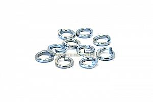 Grower washers kit, zinc plated, 8 mm, reduced outside diameter