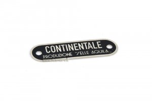 "Seat cover plate ""Continental production of eagle saddles"" for Vespa 98"