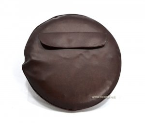 Spare wheel cover leather color (10 inch) for Vespa 50/125/150/180/200 Special-Primavera-PK-PX-GT-GTR-GL-Rally-SS