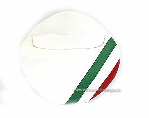 Spare wheel cover with Italian flag (10'')