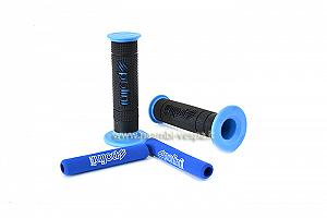 Black and blue big evolution hand grips