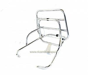 Rear luggage carrier, chrome colour
