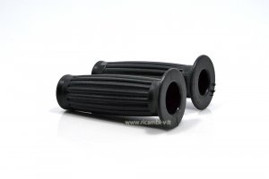Pair of black rubber grips for Piaggio CIAO 2nd SC series