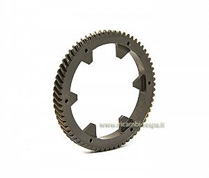 Helical teeth primary drive gear cog