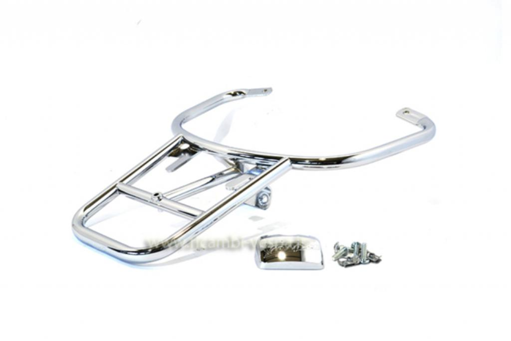 Chromium plated luggage carrier