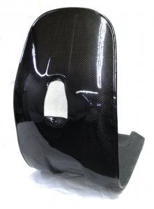 Carbon shield and footboard for Vespa 50/90 SS