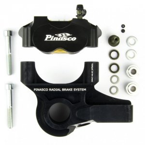 Braking System Ant. C-Radial Caliper 4P Black-Black for Vespa PX125-200 E `98 / MY /` 11