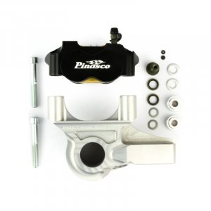 Braking System Ant. C-Radial Caliper 4P Black-Silver for Vespa PX125-200 E `98 / MY /` 11