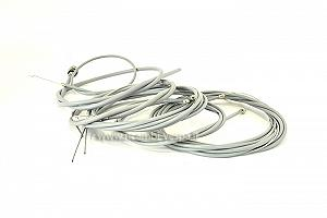 Complete kit of gear cables including rear brake cable with eye