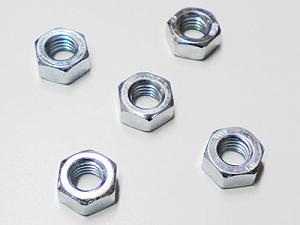 Hexagonal zinc-plated nuts (M8 with 13 wrench)