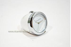 White mini table clock