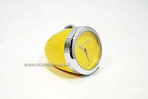 Yellow mini table clock