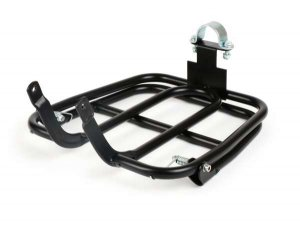 Black front luggage rack for Piaggio Ciao