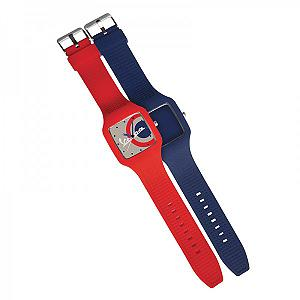 Red/blu watch