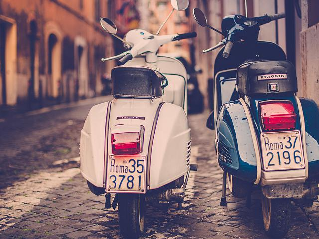Vespa rally from sunrise to sunset 2016