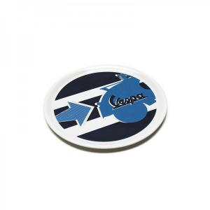 Vespa ceramic pizza plate - Blue arrow, Vespa