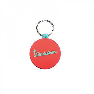 Silicon key ring  red/ light blue