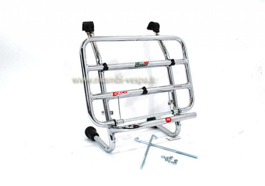 Chromium plated complete luggage carrier