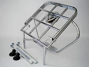Rack with spare wheel holder