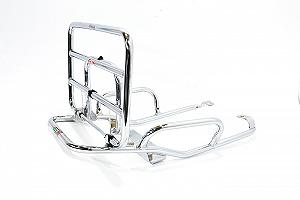 Chrome luggage carrier with handles