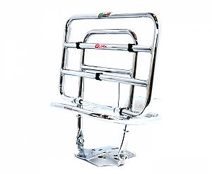 Chrome plated luggage carrier