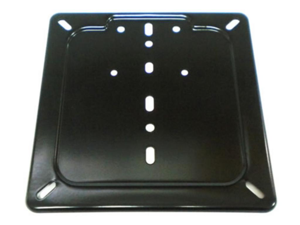 black painted plate holder
