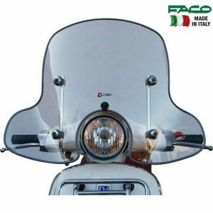 All-seasons windshield with chromium plated bars