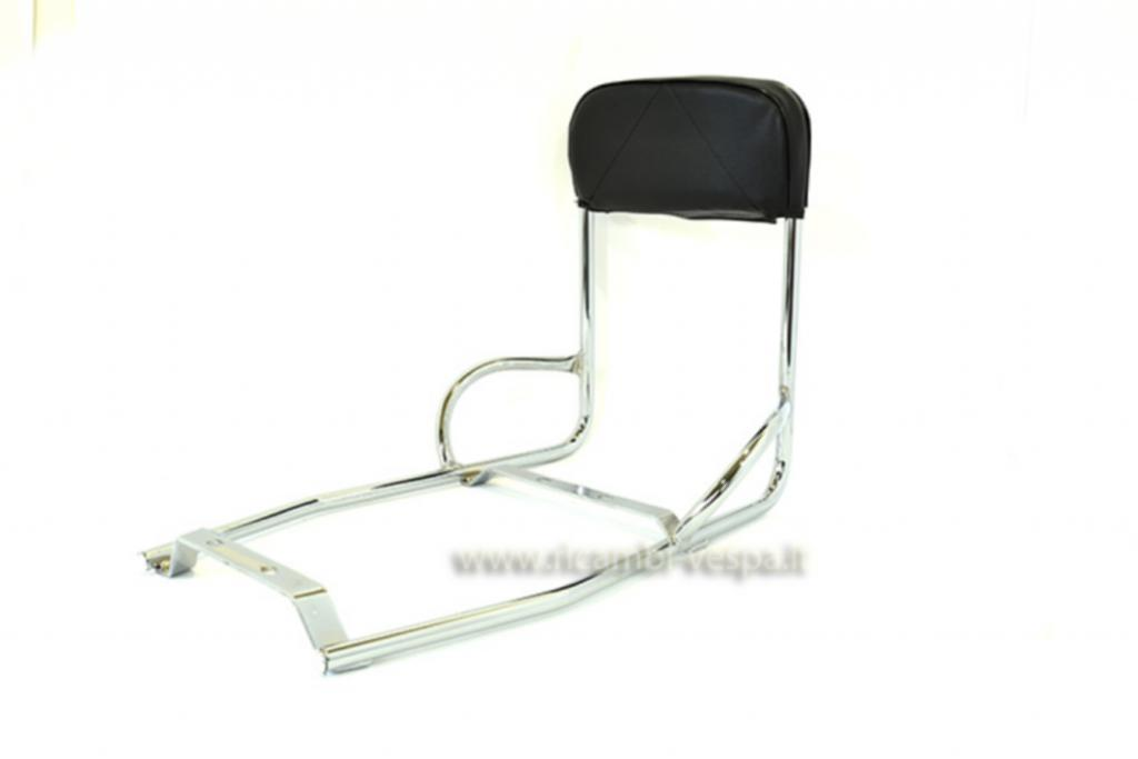 Chromium plated back rest with handles