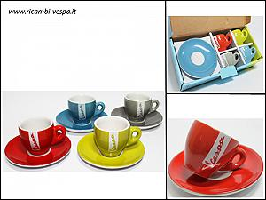 coffee cups set with dishes (6 pcs)