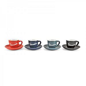 Mat colours coffeee cups Vespa