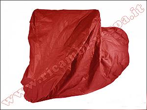 Vespa external cover cloth, made of transpirant red fabric