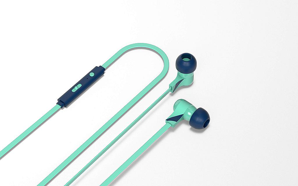 Aquamarine swing earphones
