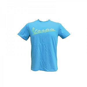 Light blue Vespa t-shirt for man
